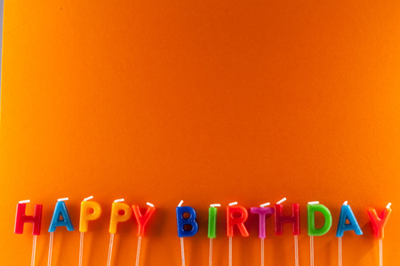 many colored: Many Colored Candles with Text Happy Birthday