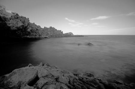 ir: Infrared BW Picture of the Ocean with Long Exposure