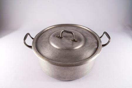 aluminium: Picture of an Old Vintage Aluminium Pot