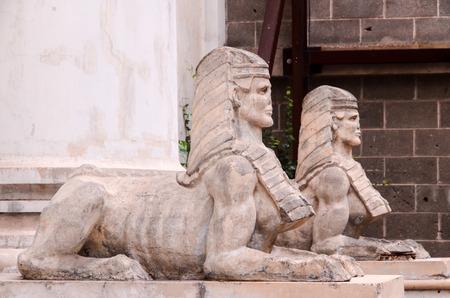 sphinx: Esfinge del Templo Antiguo Albañilería en Tenerife