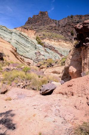 obrero: Volcanic Rock Basaltic Formation in Gran Canaria Canary Islands