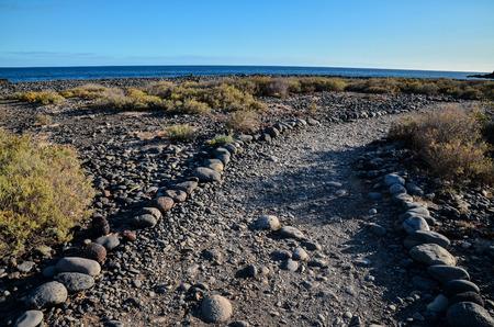route desert: Long Empty Desert road in Canary Islands Spain