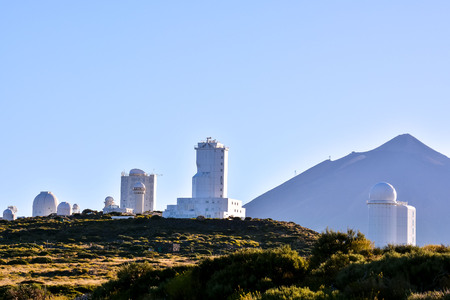 astronomical: Telescopes of the Teide Astronomical Observatory in Tenerife, Spain.