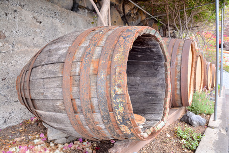 ferment: Picture of a Classic Wooden Wine Barrel