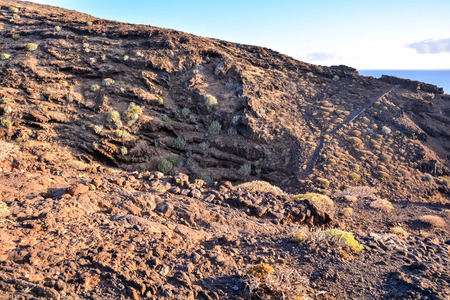 rock formation: Volcanic Basaltic Rock Formation in the Canary Islands