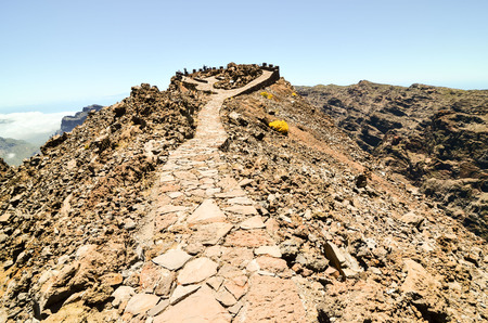 stone volcanic stones: Volcanic Basaltic Rock Formation in the Canary Islands