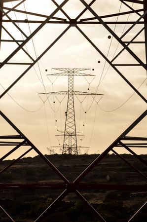 electric grid: High Voltage Electric Transmission Tower Energy Pylon