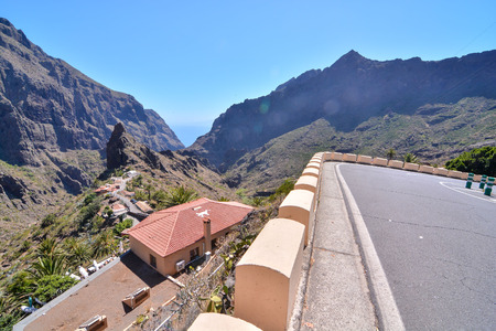 canary islands: Valley in the Canary Islands Stock Photo