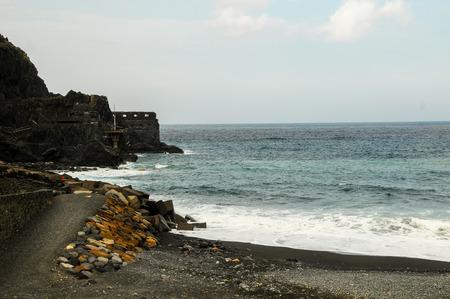 vallehermoso: Ancient Old Rock Castle Near the Atlantic Ocean