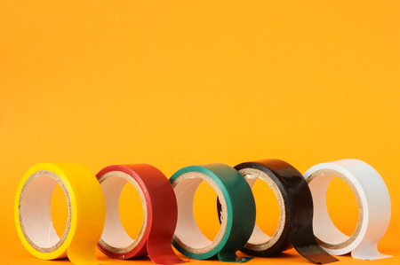 Ronde Adhesive Sticky Nieuwe Insulation Tape Roll Stockfoto