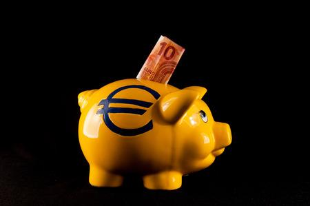 money concept: Picture of a Business Money Concept Idea Piggy Bank Stock Photo
