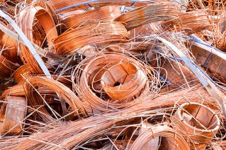 リサイクルのためのスクラップ金属準備の写真画像ヒープ 写真素材