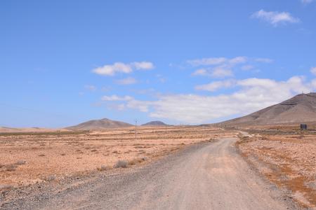 Fotobeeld van een mooi droog woestijnlandschap Stockfoto
