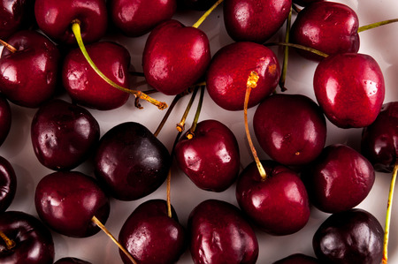 cherry: Photo picture of Cherry Fruit Background Texture Pattern Stock Photo