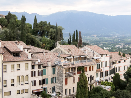 treviso: View on Asolo in the province of Treviso Veneto Italy