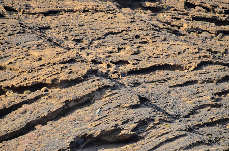 volcanic rock: Volcanic Rock Basaltic Formation in Canary Islands