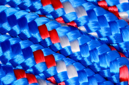 braided: Background Texture Of The Blue Braided Rope