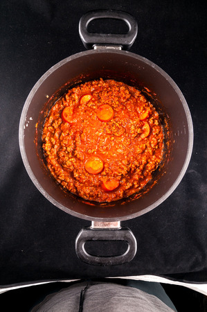 Photo picture of the classic Italian style tomato sauce Stock Photo