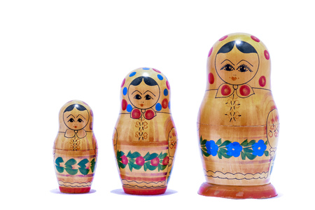 matrioska: Picture of the Classic Russian Matrioska Doll Stock Photo