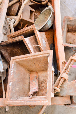 junkyard: Picture Heap of Scrap Metal Ready for Recycling