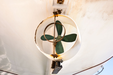 convey: Picture of an Old Boat Helix Propeller