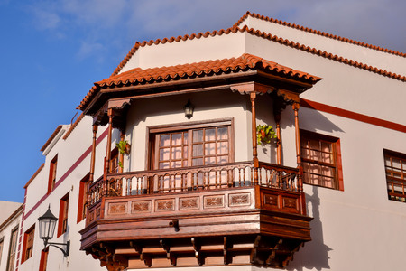 canarian: Photo Picture of the Classic Style Canarian Wooden Balcony
