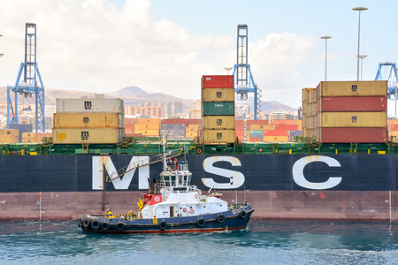 editorial: Editorial Picture of the Port in Gran Canaria Spain 10 october 2015 Editorial
