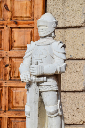rare rocks: Rock Statue of a Medieval Armor Soldier