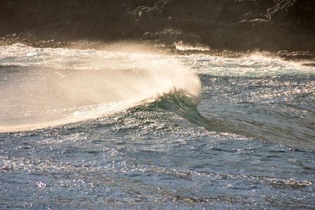 braking: Photo Picture of a BIg Wave in the Ocean