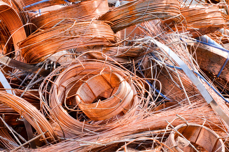scrap heap: Photo Picture Heap of Scrap Metal Ready for Recycling Stock Photo
