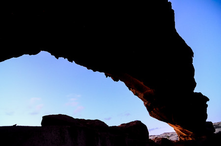 natural arch: Volcanic Formation Natural Arch in the Desert Tenerife Canary Islands Spain