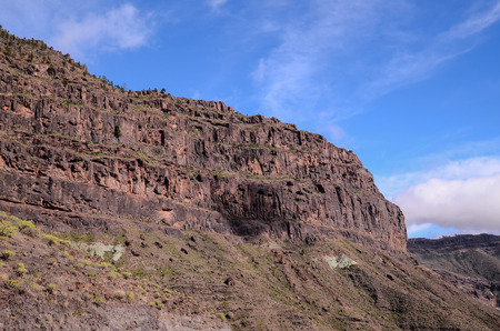 the biosphere: Volcanic Rock Basaltic Formation in Gran Canaria Canary Islands