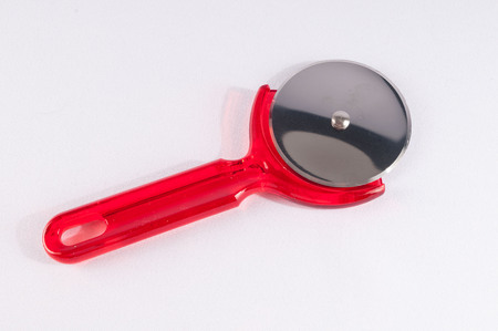 pizza cutter: Picture of Plastic Red Pizza Cutter Slicer Knife