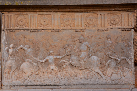 bas: Photo Picture of a Beautiful Bas Relief Texture in Granada Stock Photo