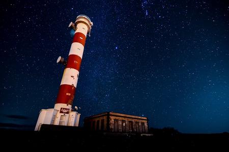 milkyway: High Lighthouse near the Coast in the Canary Islands