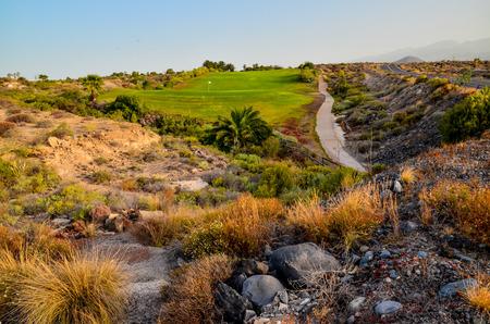 clima tropical: Golf Green Grass Fiel in a Tropical Climate