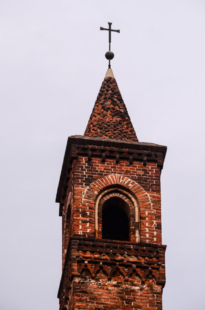 belfry: Typical Gothic Belfry Church Tower in Italy