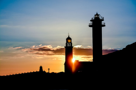 palma: Photo Picture of the Classic Lighthouse in Fuencaliente La Palma Canary Islands