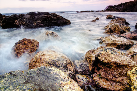 long exposure: Long Exposure Picture of the Sea Coast in Tenerife