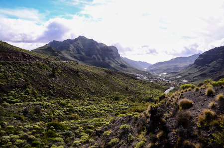 craggy: Volcanic Rock Basaltic Formation in Gran Canaria Canary Islands