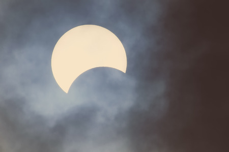 solar eclipse: Partial Solar Eclipse on a Cloudy Day 03.11.2013