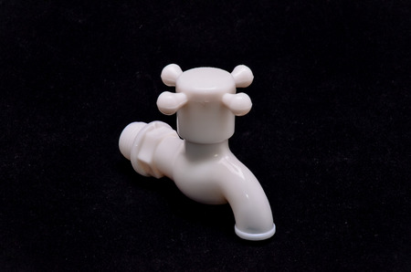water faucet: One White PVC Plastic Bathroom Water Faucet