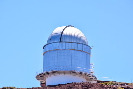 astrophysics: Photo Picture of a Modern Scientific Astronomical Observatory Telescope Stock Photo