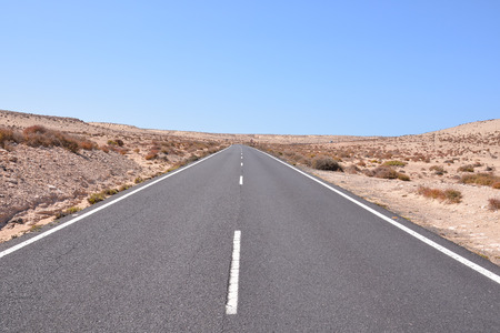 on the lonely road: Picture of a Beautiful Asphalt Lonely Road
