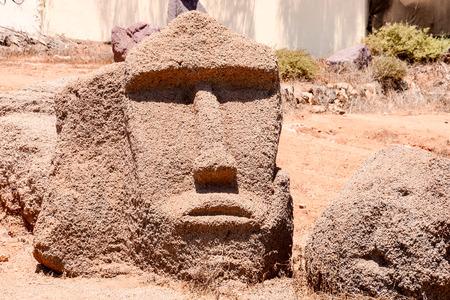 moai: Fotografía de una máscara clásico del estilo de Moai Foto de archivo