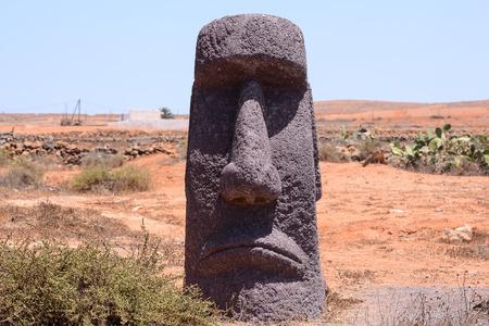 moai: Fotograf�a de una m�scara cl�sico del estilo de Moai Foto de archivo