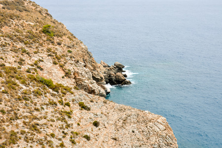 andalucia: Photo Picture of the Beautiful Sea Coasts View in Andalucia Stock Photo