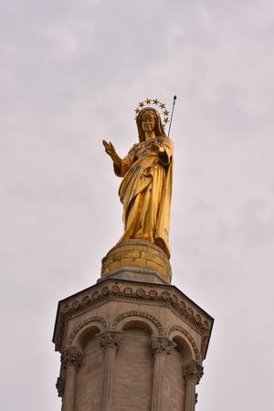 avignon: Photo Picture of a Classic Christian Statue in Avignon Stock Photo