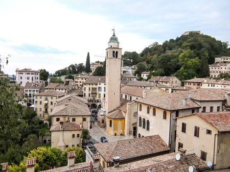 View on Asolo in the province of Treviso Veneto Italy
