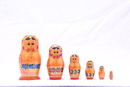 matriosca: Photo Picture of the Classic Russian Matrioska Doll Stock Photo